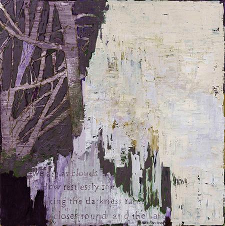 Untitled (O.T.T.W.W.), 2017, 200 x 200cm, olie på lærred