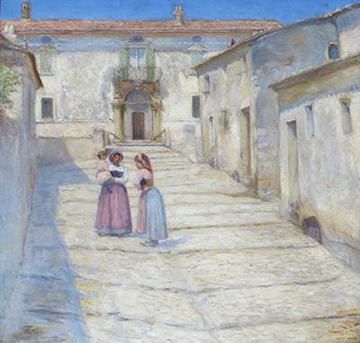 Henry Lørup: Palazzo Ferrante i Civita d Antino. 1890. Statens Museum for Kunst