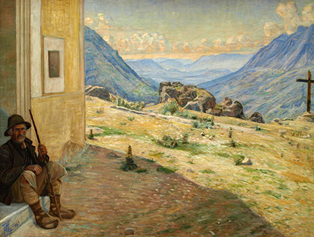 Poul S. Christiansen: Udsigt over Liridalen, Civita d Antino. 1905. Faborg Museum