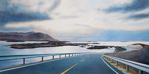 Route Atlantic Twilight. Olie på lærred. 100x200 cm. 2011