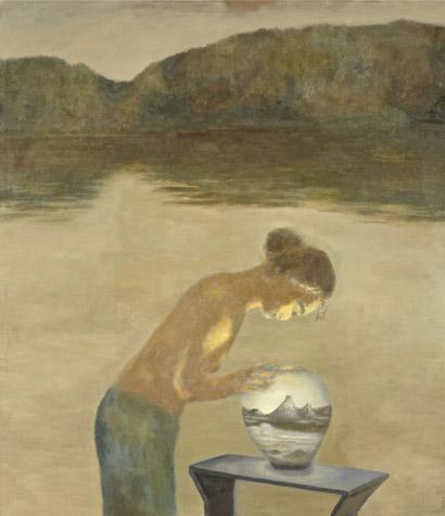 Tong Wang: Ørnsø og glasbowle. 2011