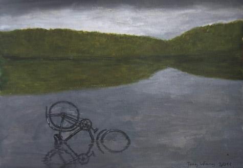 Tong Wang: Søen med cyklen. 2011
