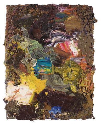 Ask, olie på lærred, 40 x 30 cm, 2009