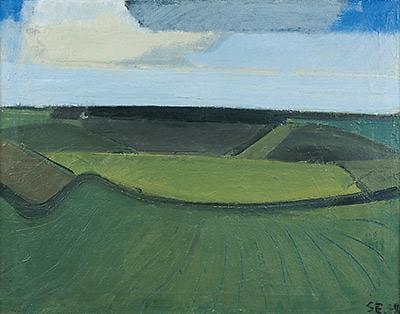 Grønt landskab. 1938