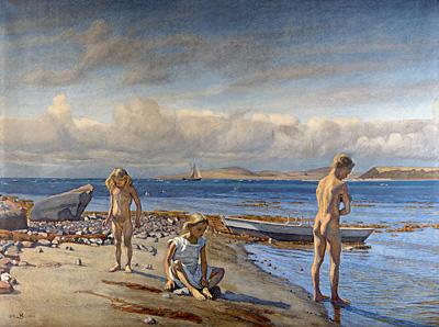 Fritz Syberg: Børnene på Fyns Hovede (1904-05). Privateje