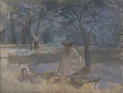 Have med figurer, 1908. Faaborg Museum