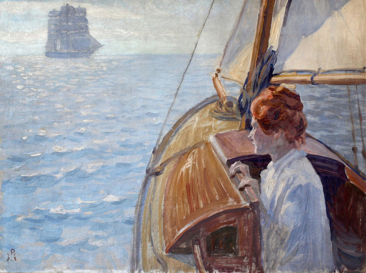 Peter Hansen: Sommermorgen på havet, 1903