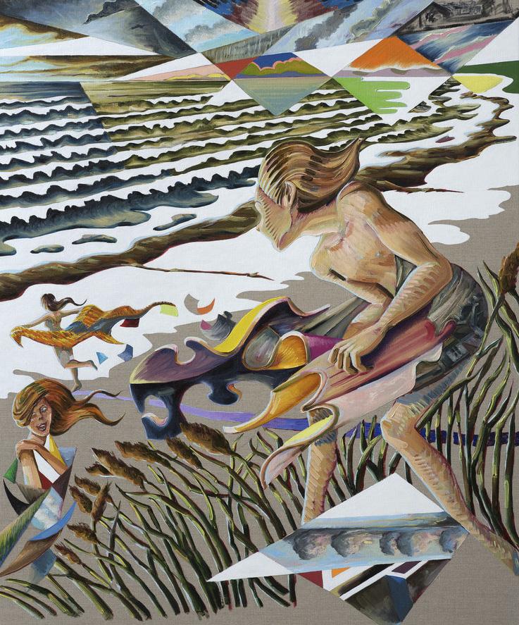 Martin Bigum: Sommerens piger, olie på kanvas, 100 x 125 cm, 2016