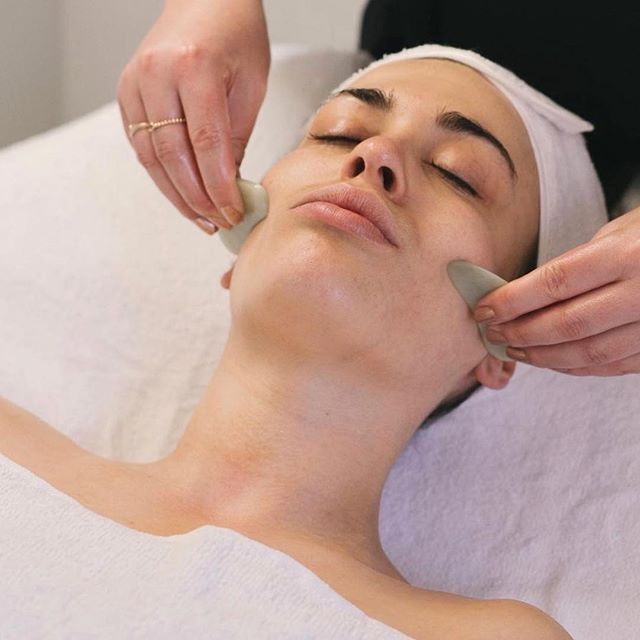 """THE BEAUTY OF BALANCE.  The facial to end all facials. And our most popular facial at that! - """"I've had a lot of facials, and this was by far the best""""- quote a beautiful client who immediately rebooked 👌🏻💞 - This 1 hour facial is a must if you're looking to brighten your complexion, awaken your skin and regain balance, calm and energy. - Where East meets West- balancing ancient Chinese medicine techniques of Gua Sha and Facial Cupping with western nourishment and relaxation. The perfect way to find your zen, while achieving an all important glow. ✨"""