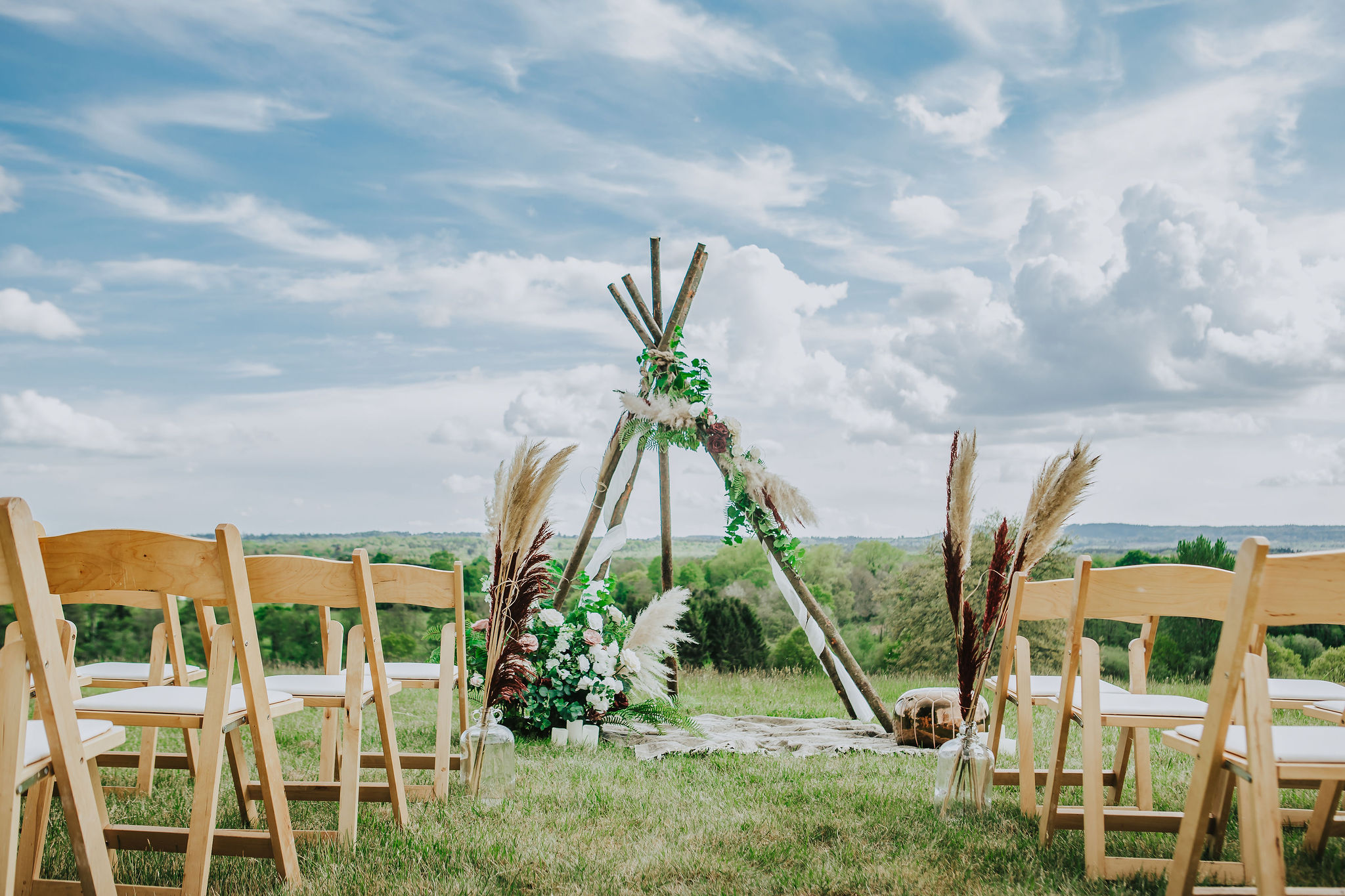 Our naked ceremony tipi