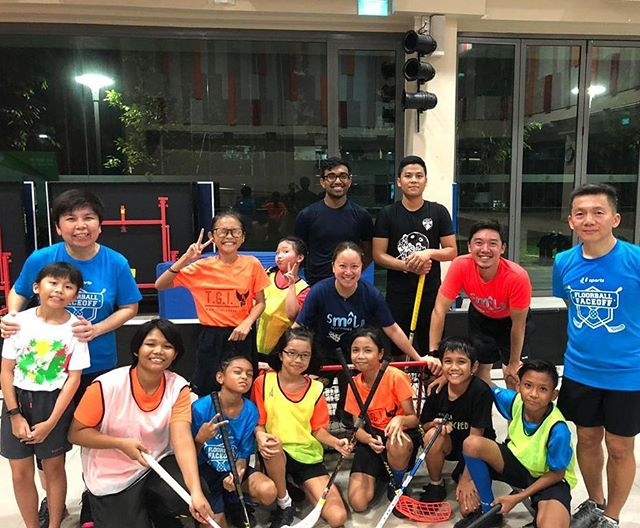 SMOL x TGIF kids having a great time together for their last training before camp next week! - - - And our SG Open Recreational Team is forming up just fine 😉 - - -  Catch more Camp actions from our kids next week! - - #smolteambighearts #smolfloorball #tgifloorball #floorball #sgfloorball #inclusive #community #exel #unihoc #zonefloorball #kidsport #amk