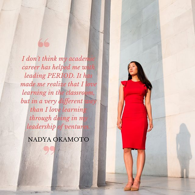Read more about @nadyaokamoto , Founder & Executive Director of @periodmovement at https://thriveglobal.com/stories/conversation-with-nadya-okamoto-period-and-her-fight-to-end-period-poverty/