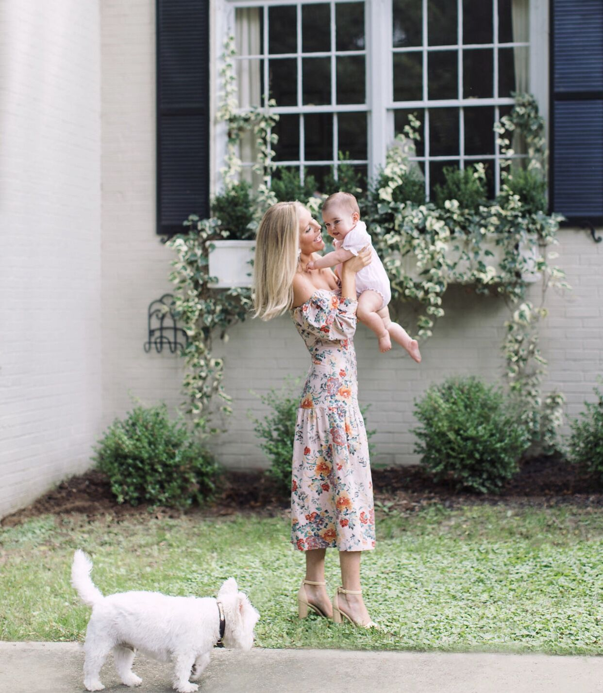 Emily Jackson of Stuffy Muffy with Baby and Dog in Atlanta