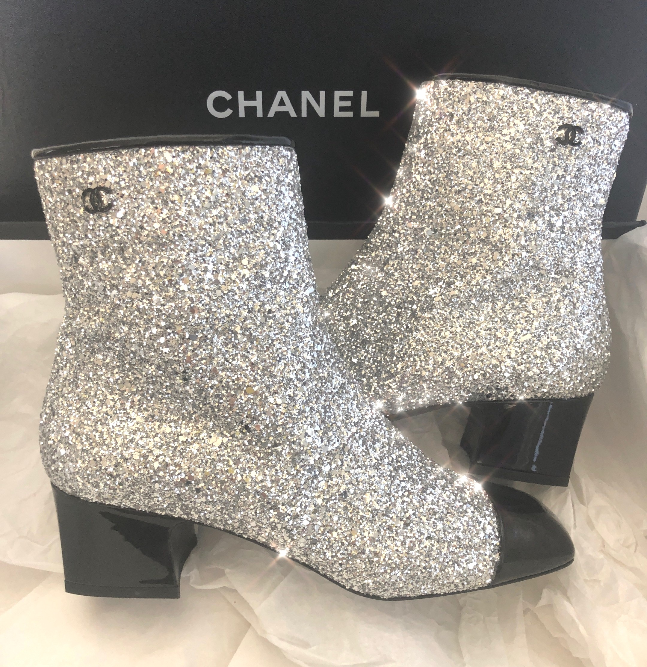 Luxe Hunt Deal: Sparkly Chanel Runway Boots 60% off