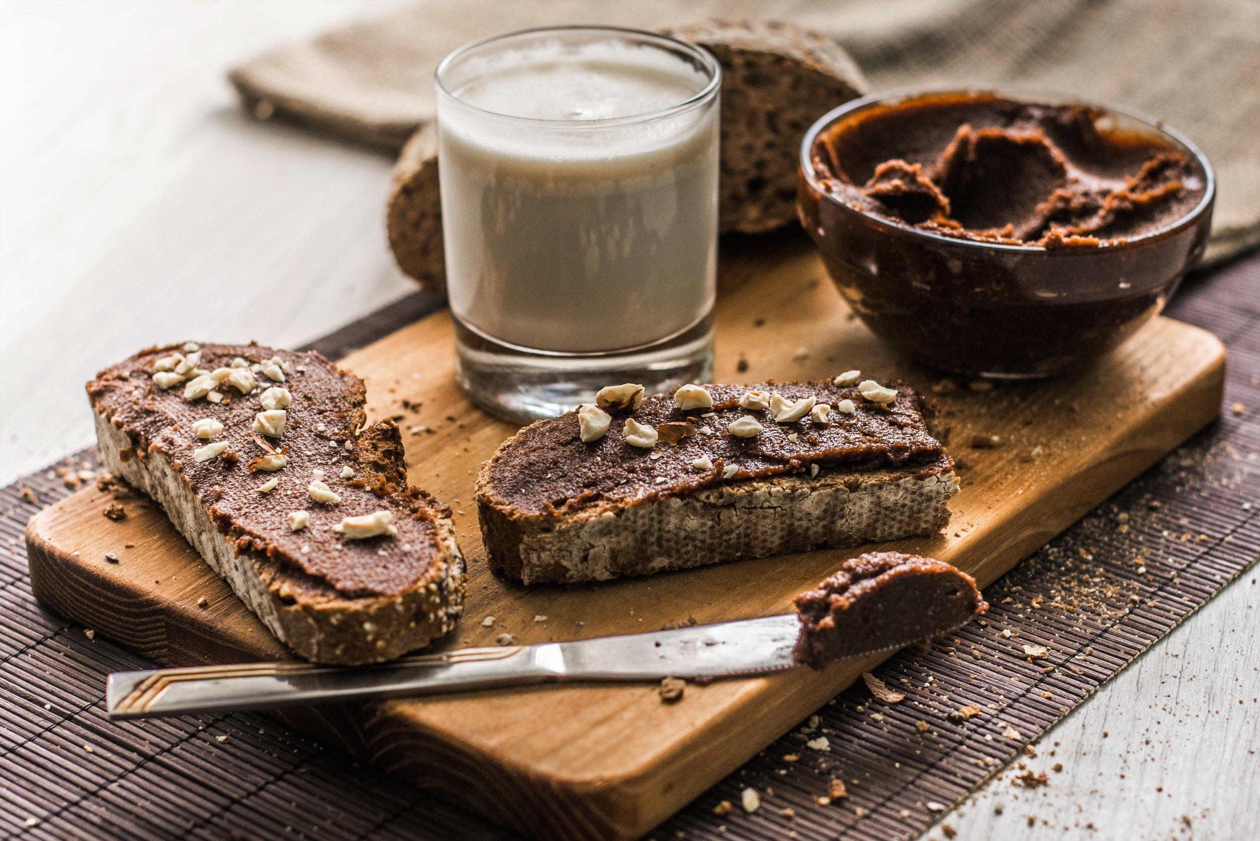 Homemade vegan nutella with almond milk..jpg