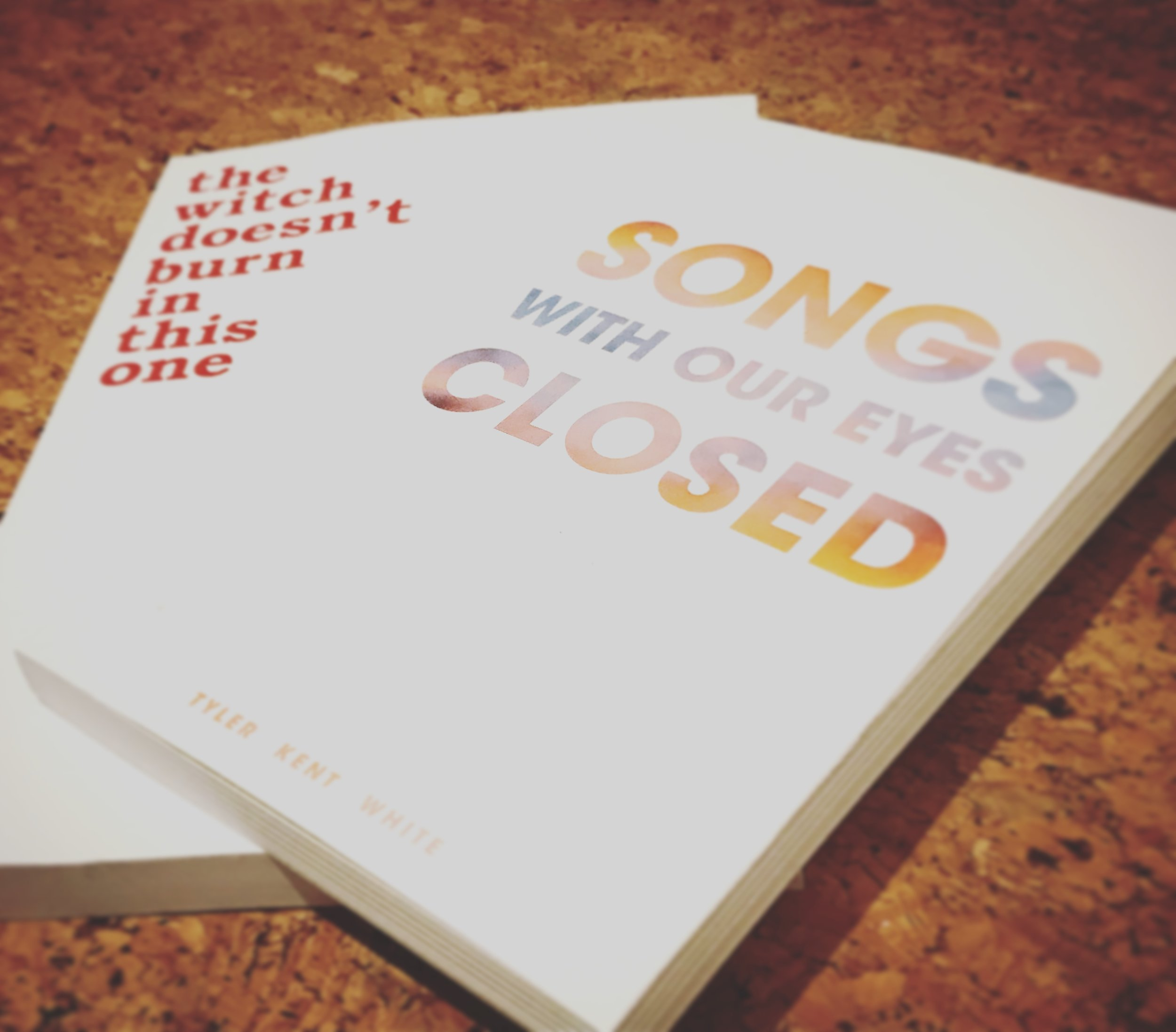 THE WITCH DOESN'T BURN IN THIS ONE: AMANDA LOVELACE / SONGS WITH OUR EYES CLOSED: TYLER KENT WHITE