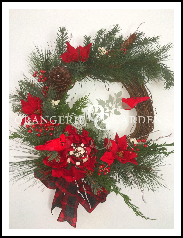 Canterbury Christmas Cardinal Wreath