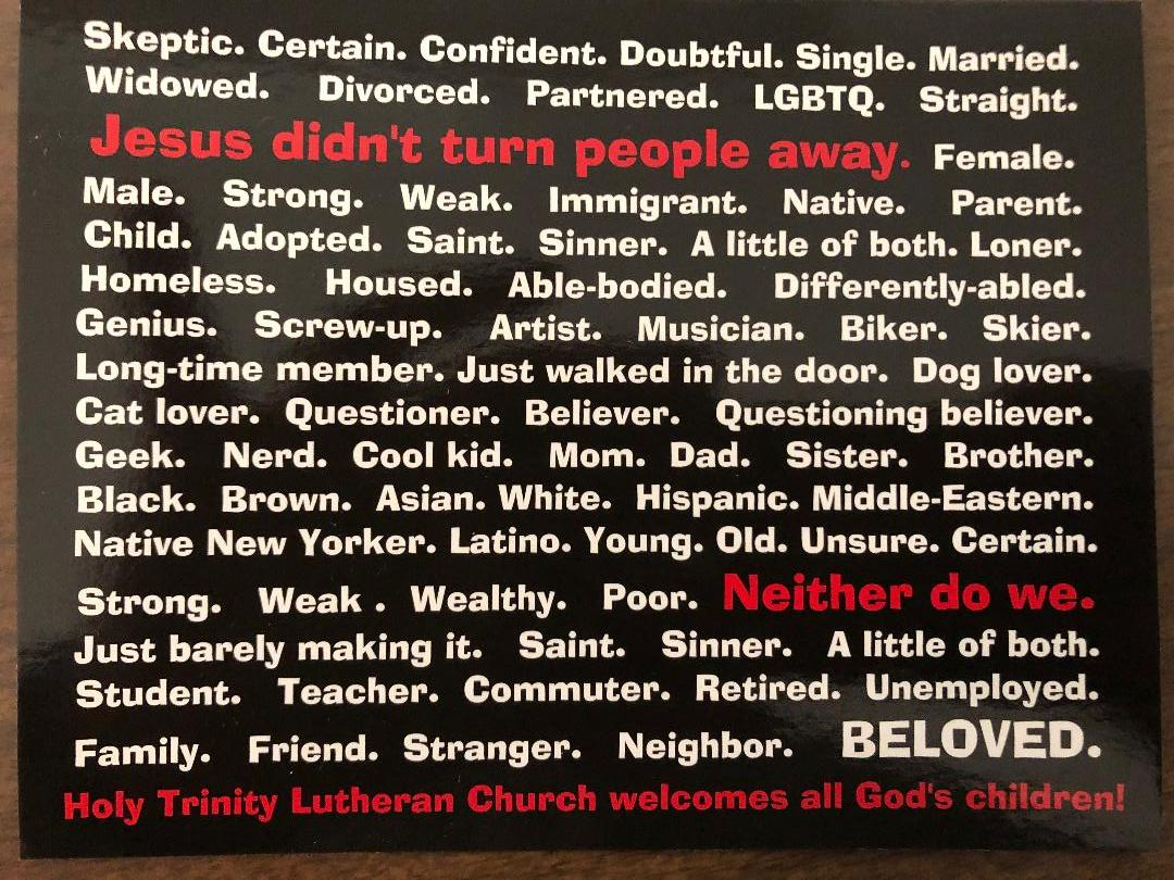 You belong here - Holy Trinity is known for our hospitality. Whether you enter our sanctuary for worship or join us for one of our social functions or outreach events, know that you are always welcome here.Join us for worship, outreach events or one of our many social group events!