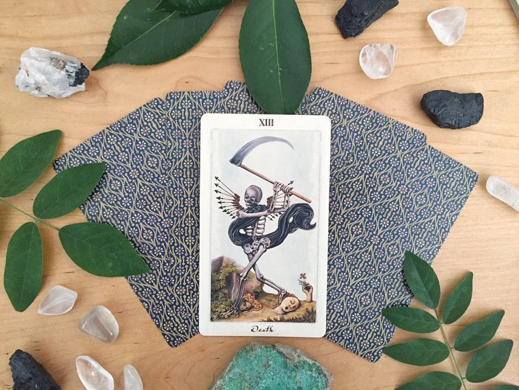 Tarot Reflections: Diving Deep into Shadow Work with Death and The Moon - By Gina Wisotzky