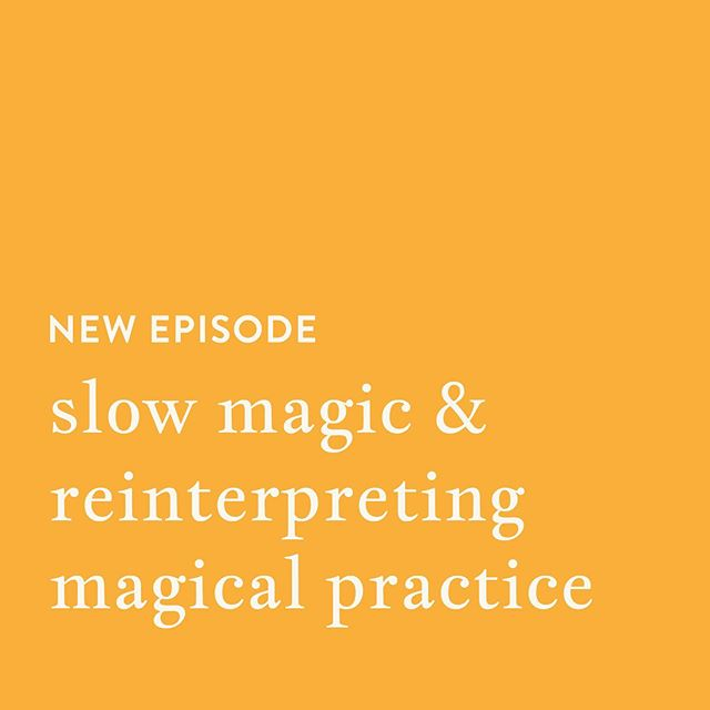 ICYMI: New episode out featuring our discussion on slow magic & reinterpreting magical practice!  In this episode, we engage in our favorite activity of waxing poetic about spiritual practices. We explore how to use practices in a way that's nourishing, pressure-free, and expansive, as well as how slow magic itself can bring us into a more just relationship with the world around us. Touching on our personal practices with dreamwork, kitchen witchery, reading as magic, radical intention setting, and more this episode expands the idea of magic into something innate, accessible, and practical.  Take a listen wherever you get your podcasts +  subscribe to make sure you get updates whenever we put a new episode out! . . . #babywitch #witchcraft #magic #magical #witchery #witchy #magick #crystals