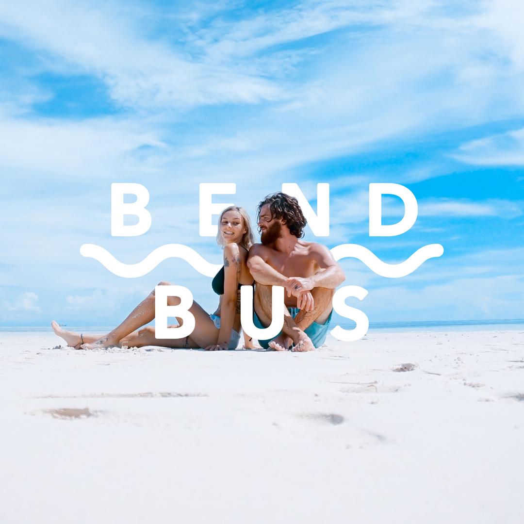 Bend Bus Beach Couple