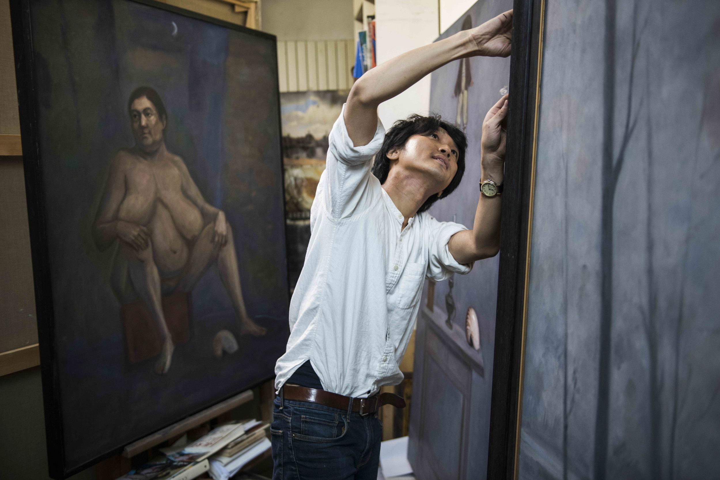 Jimmy Beunardeau - Pr Chen - Peintre taïwanais - reportage (5).jpg