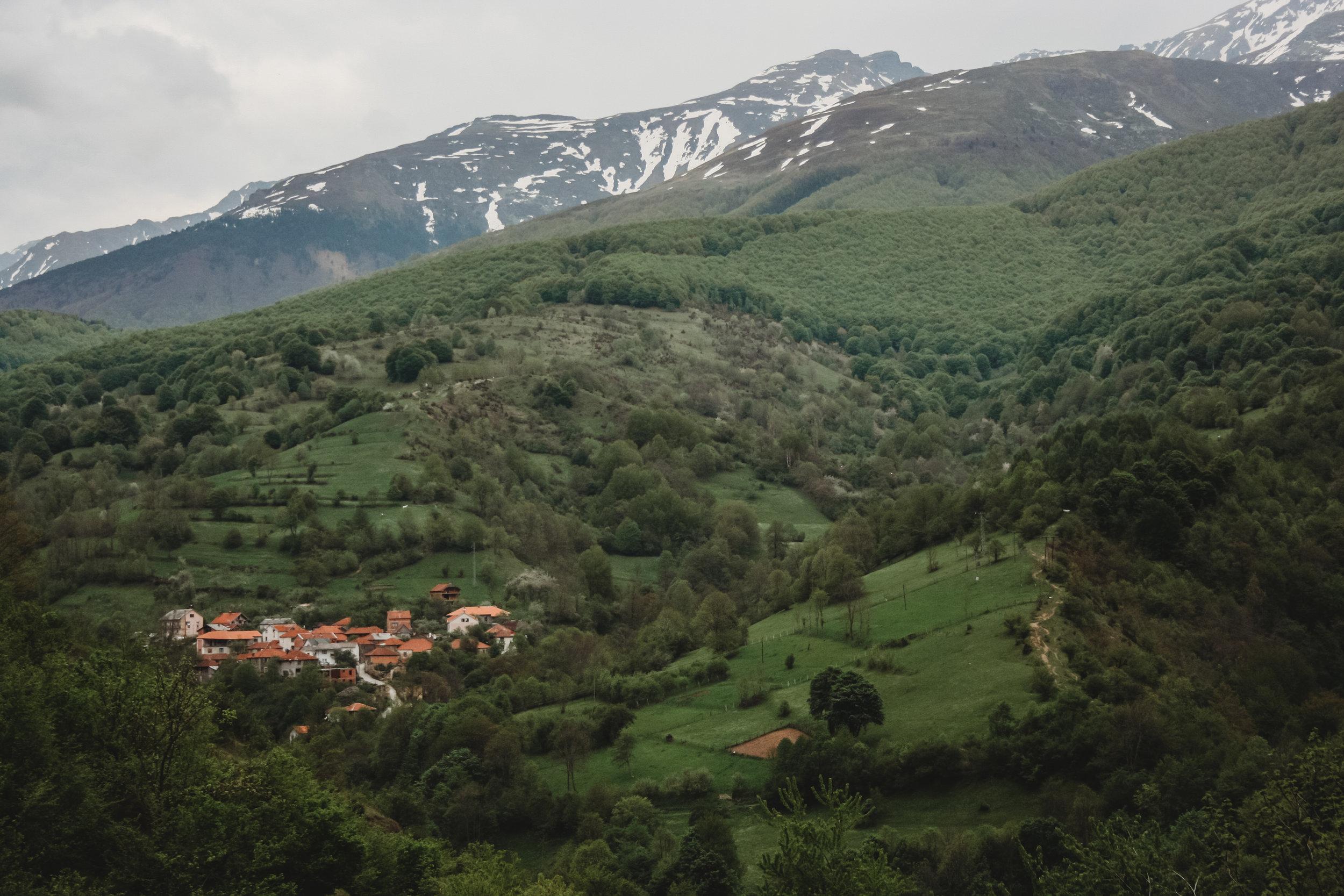 The mountains outside Pristina, Kosova