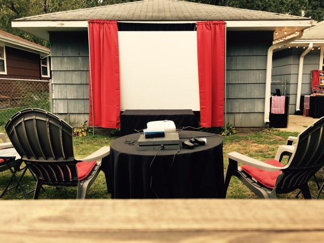 DIY Movie Screen, Projector - Backyard Movie Night Theme Party