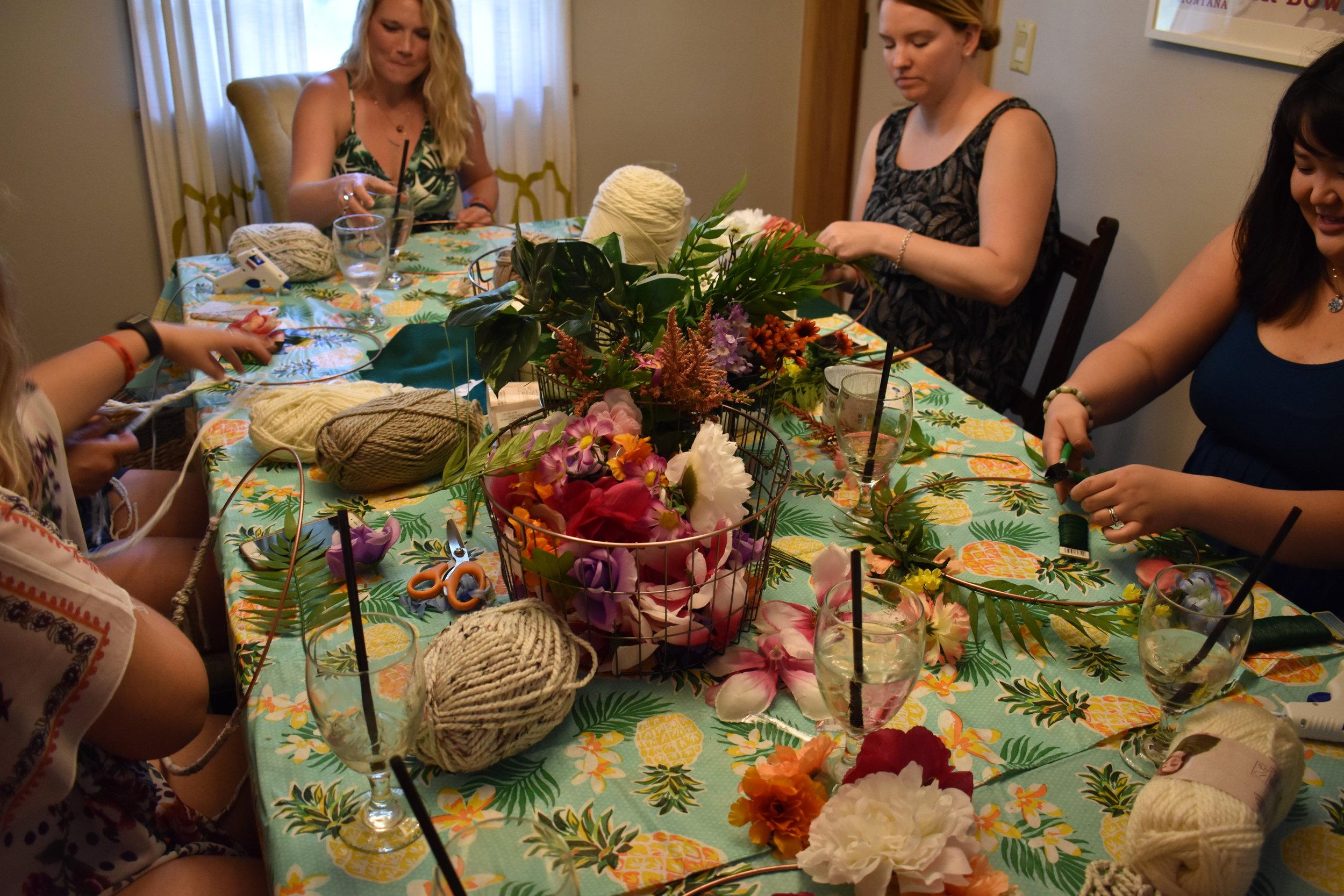 Boho Floral Wreath Making Craft Day - Bridal Shower