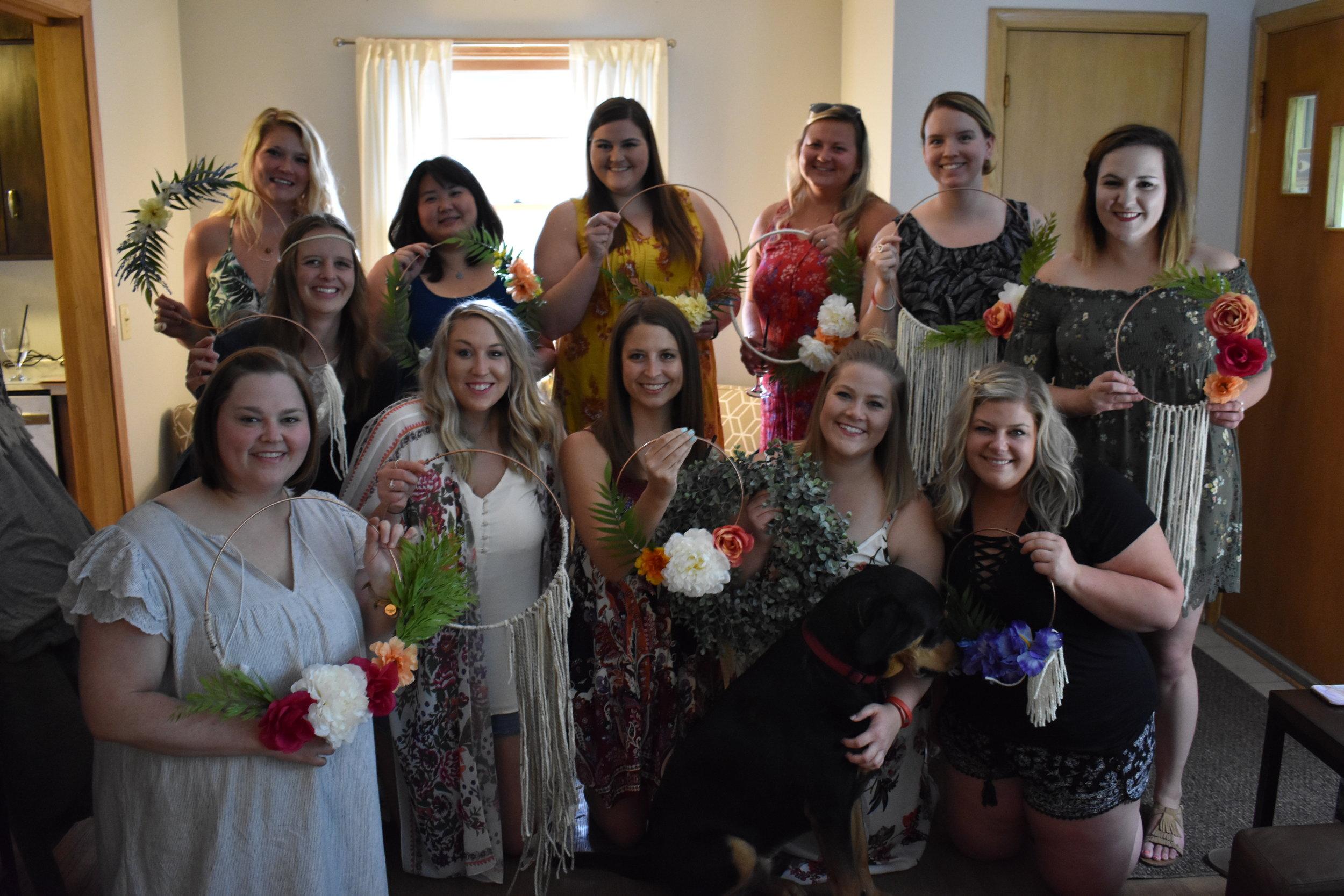 Boho Floral Wreath Craft DIY Party - Bridal Shower