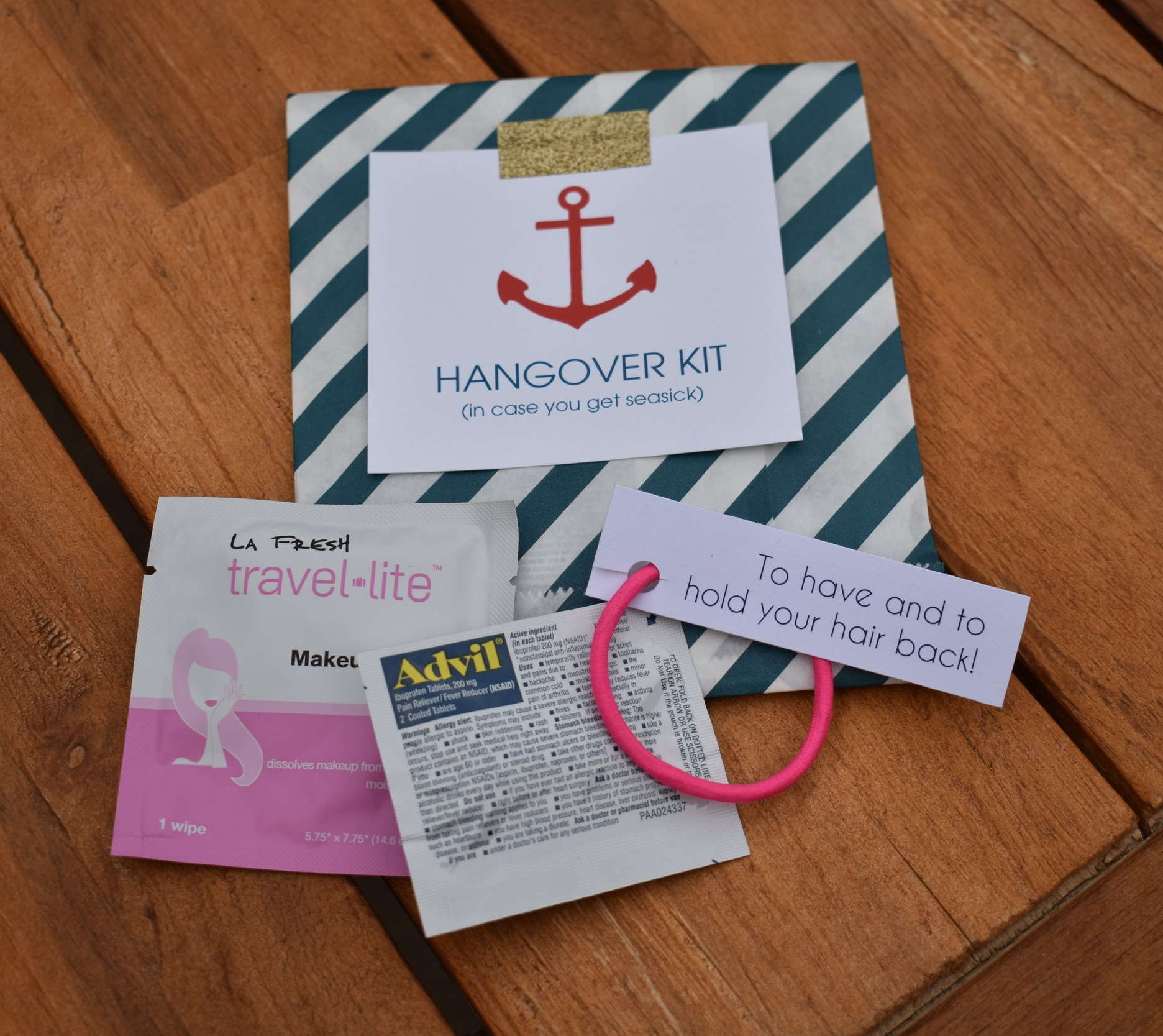 Get Nauti Hangover Kit Bachelorette Party Pinup Girl