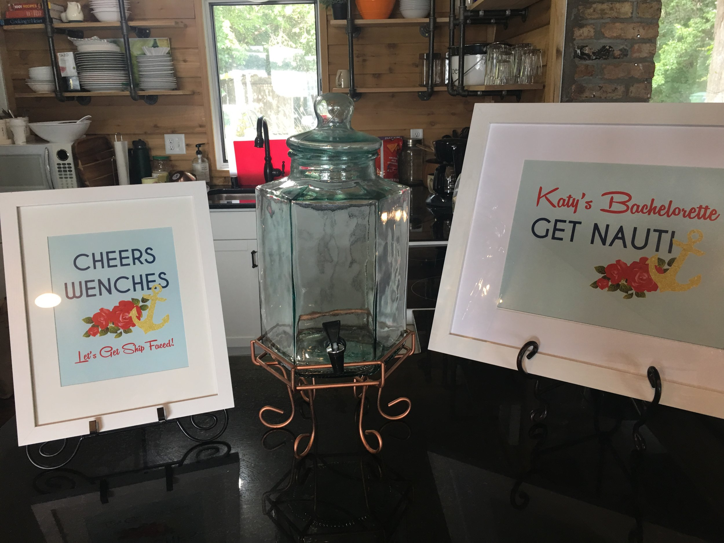 Get Nauti Bachelorette Party Cheers Wenches Sign