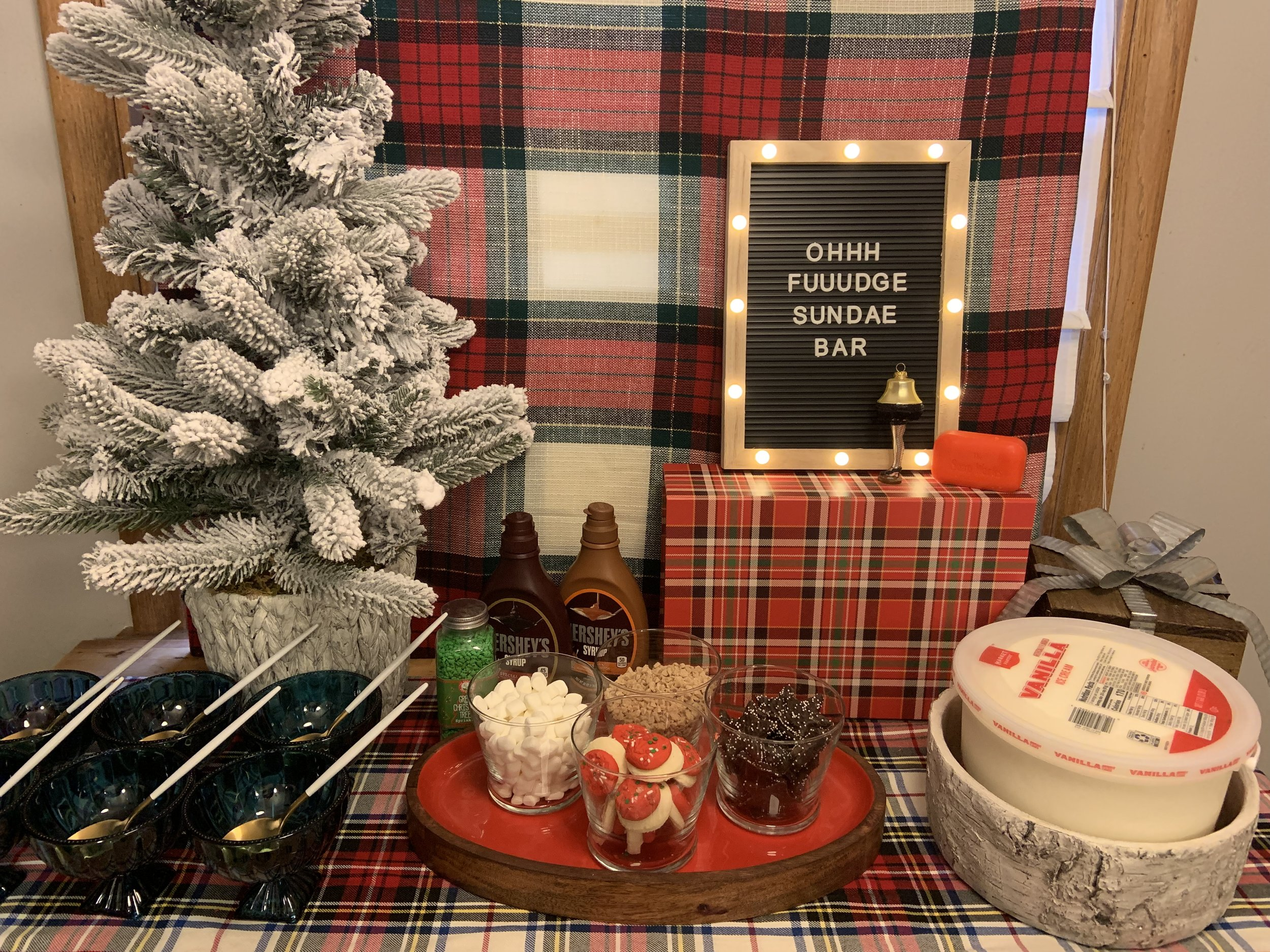 A Christmas Story Holiday Party Oh Fudge Sundae Bar