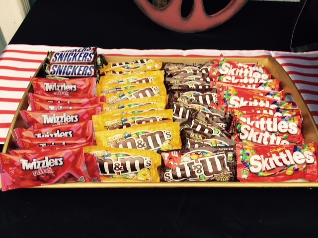 Backyard Movie Night Theme Party Concession Stand Candy Bar