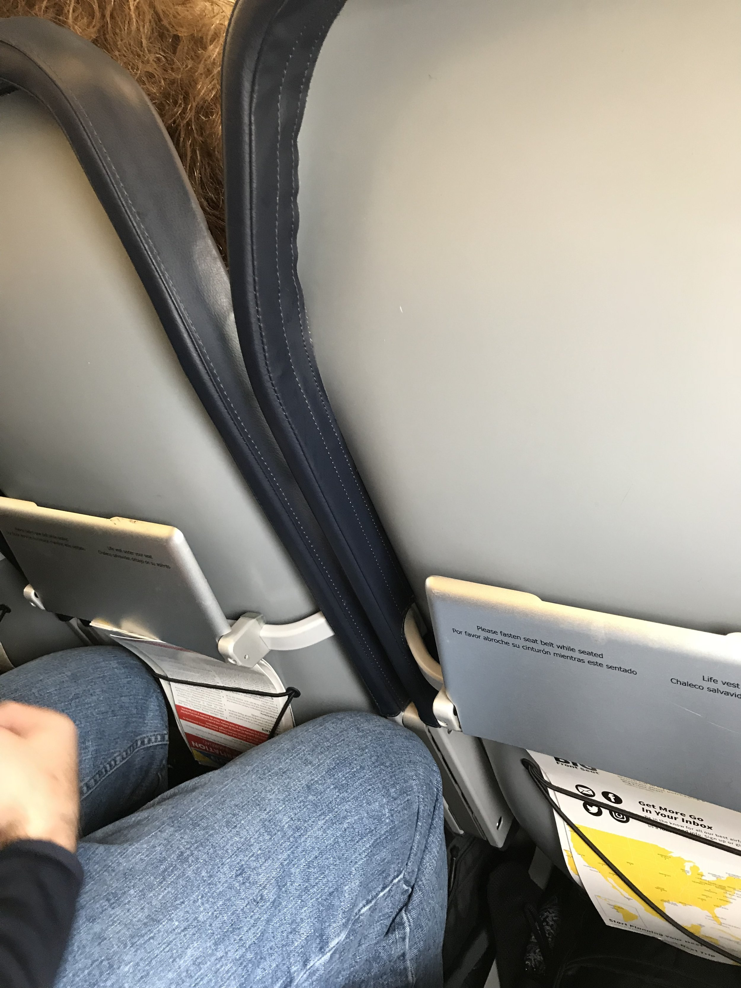 Thin cloth over a metal seat