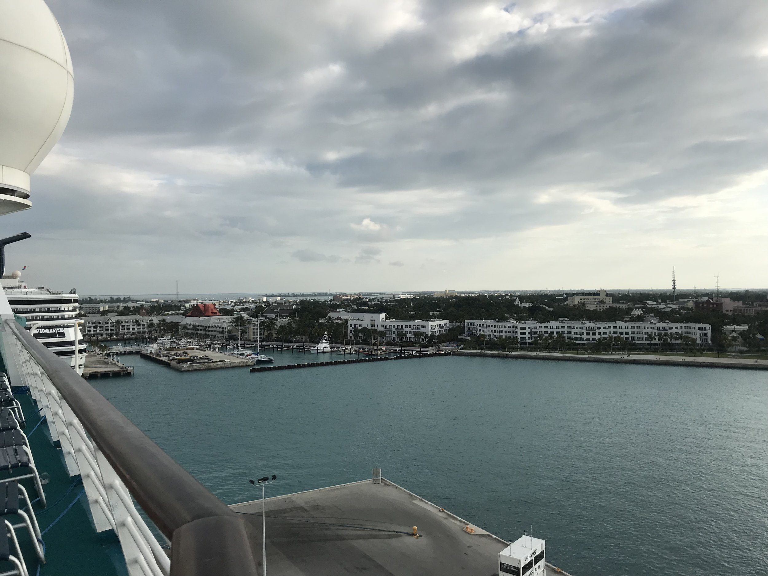 Key West from the top deck of Majesty of the Seas