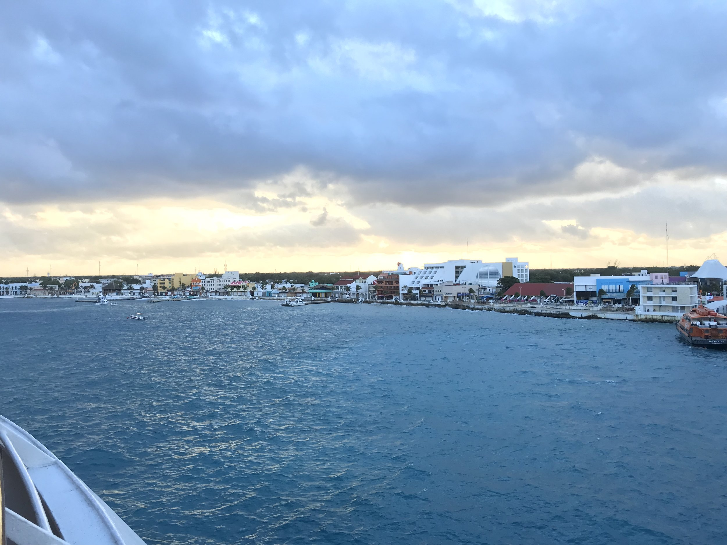 Cozumel the morning we pulled up!