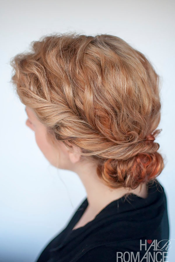"Curly Bun and Twist:  This one is for the messy bun lovers! If you want a casual, no fuss look that is oozing with elegance, this is the way to go! The curly bun and twist will transform your daily look from ""queen of the messy bun"", to ""queen of the prom"" chic, for a special night out."