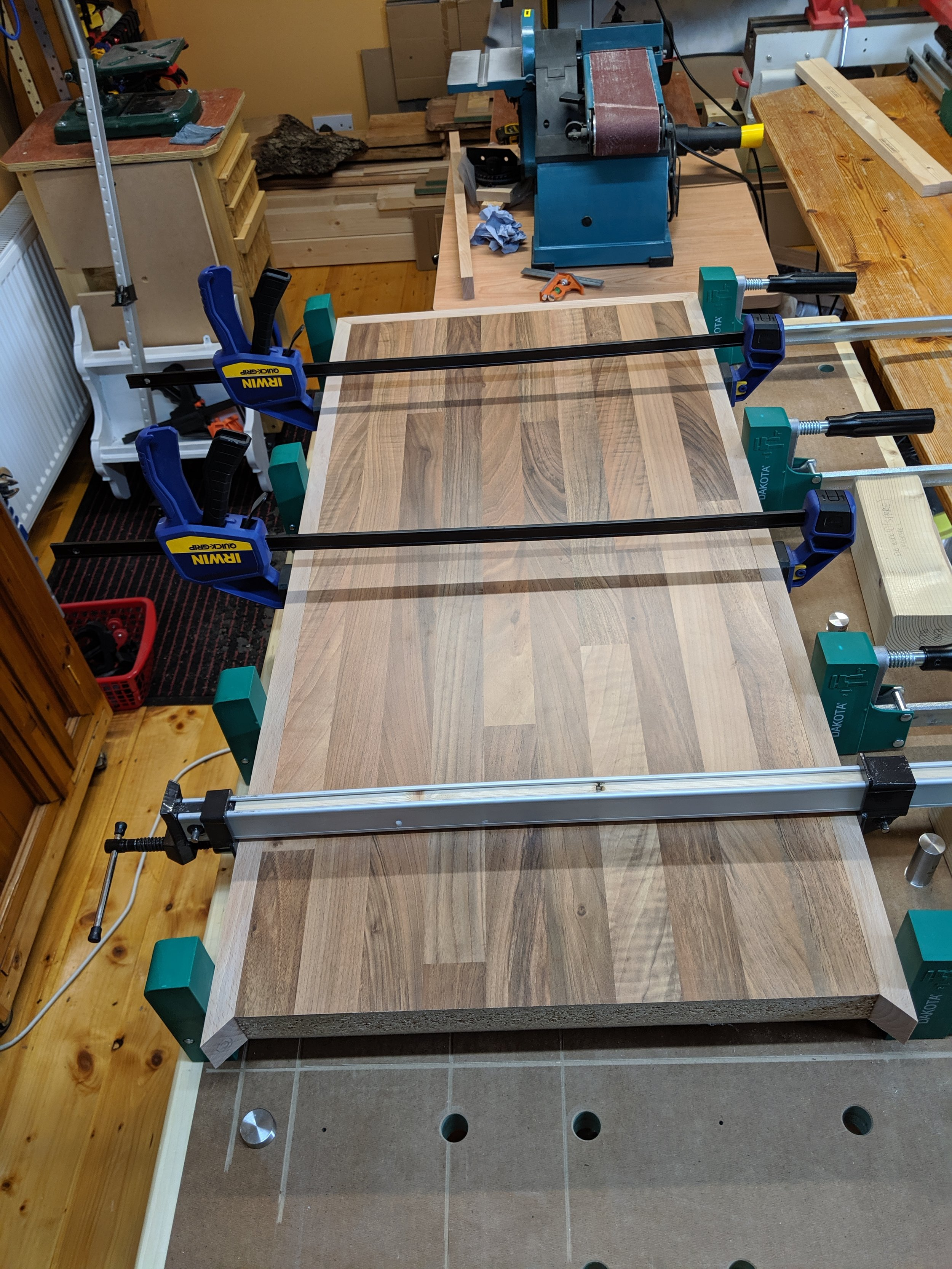 Third side - glue up