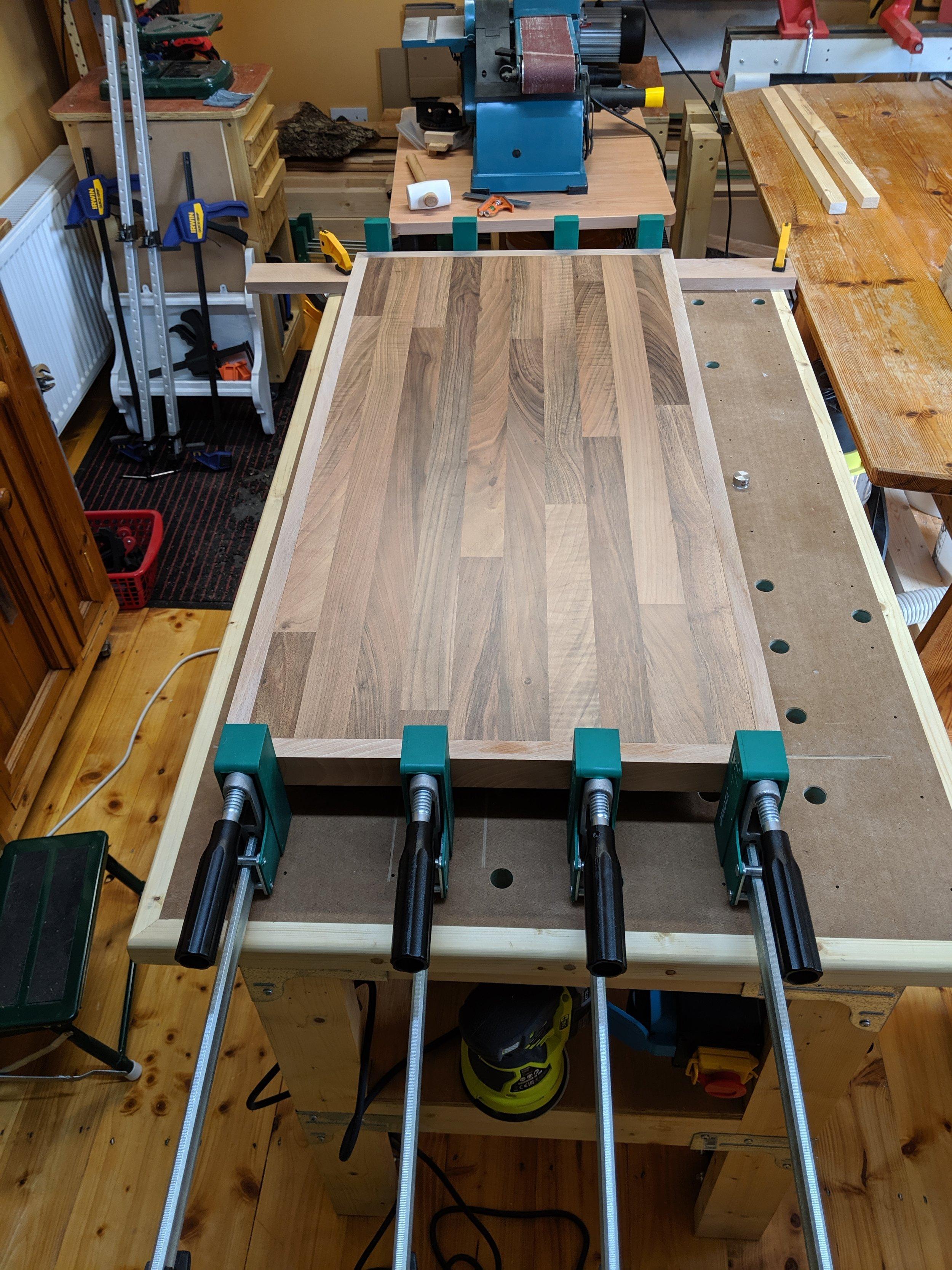 Fourth side - glue up