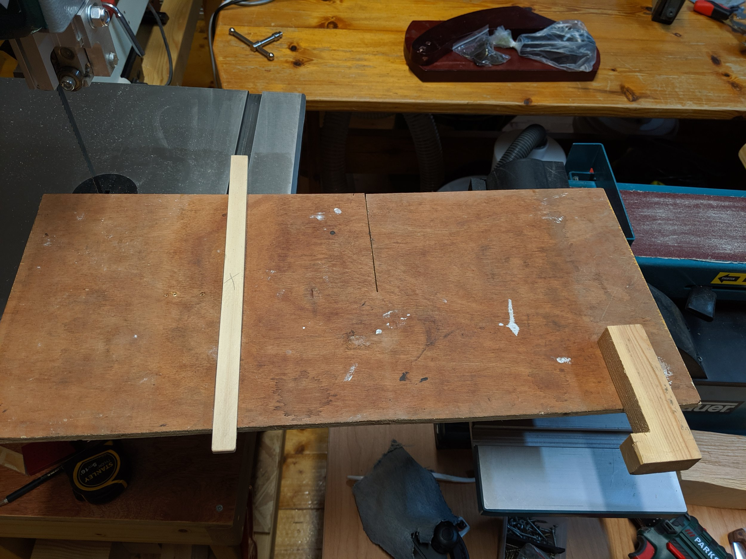 Underside showing runner and stop prior to waxing.