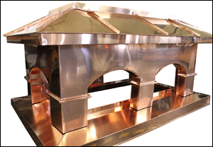 Copper sheet provided by New West Metals  Fabricated by Elite Metal Products - Winnipeg MB
