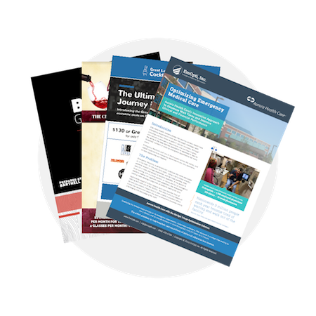 Print Design - We design a wide range of print marketing materials: brochures, white papers, stickers, coasters, magazines, menus, the list goes on. Send us a note about what print materials you need designed for your business!