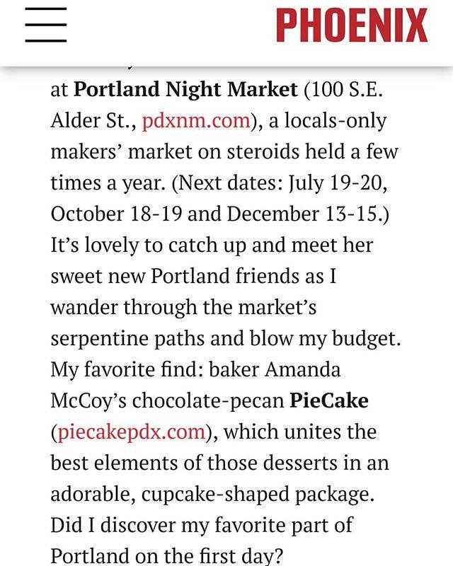 We were in our first magazine! Woohoo! Phoenix magazine's issue on travel to Portland.  Menu: PieCakes: Chocolate  Blackberry Blueberry Lemon  Cookies: Coconut Almond Chocolate Cream Lemon Cooler  Handpies: Ham & Swiss  Classic Meat  #PieCake #PieCakepdx #arizona #phoenix #magazine #feature #topfoodnews #eatingfortheinsta #buzzfeast #dessertporn #dessertlover #dessertgoals #forkyeah #eattheworld #eatingfortheinsta #huffposttaste #tastingtable #foodgawker #onmytable #food52 #foodoftheday #foodlove #nomnom #eatfamous #eeeeeats #foodbeast #foodlife #buzzfeedfood #buzzfeast #feedfeed