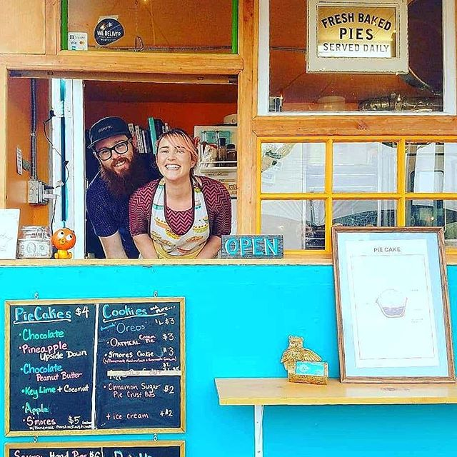 It's with a heavy heart that we would like to announce that we are stepping back from the food cart life to focus on family. We would like to thank you for your support over the last year. It has meant a lot to us. This week will be our last week running the cart, but this may not be the last you hear of PieCake, so stay tuned. Please come by this week to say goodbye and get some goodies. The good news is you will still be able to get delicous treats from the cart as @wearebakedpdx will be taking over the cart and the spot.