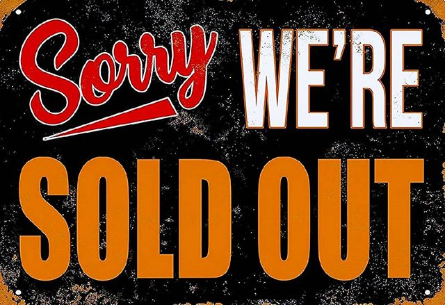 Sold out for the day! Come by tomorrow for our last day!