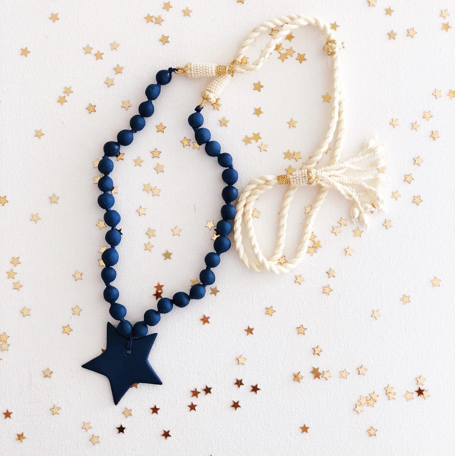 Navy Star Necklace, Samarah.jpg