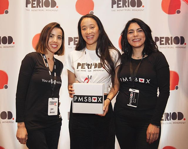 #PMSBOX loved meeting @nadyaokamoto and Vincent Forand at #PeriodCon. ♥️📦 #EndPeriodPoverty  Photo Credit: @sinemy 📸