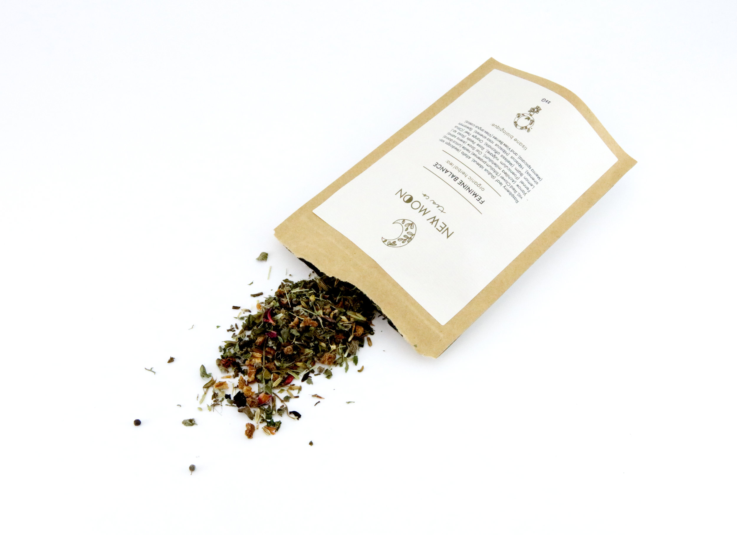 Therapeutic Item: Feminine Balance Organic Tea by New Moon   This delicious loose leaf blend harmonizes the body and relieves stress on hormones. Handcrafted in small batches, Feminine Balance tea is vegan, gluten-free with no caffeine. The raspberry leaf helps balance hormones, while the lemon balm eases period pain.  PMS Tea Recipe:  Add 1-1.5 tsp of tea into an infuser, and pour 8 oz of boiling water over. Make sure to cover your tea to stop nutrients from escaping in the steam. Steep for 8-10 min. Enjoy!