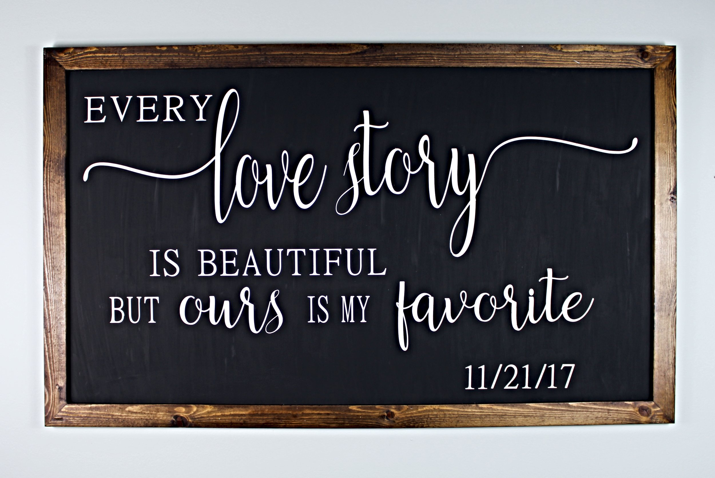 We bring our customer's visions to life! Just like this custom sign! Or select from one of our many beautiful creations…